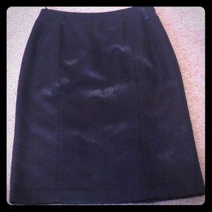 Beautiful Navy shimmering Pencil Skirt NWOT